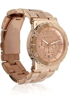 Micahel Kors Rose gold-plated stainless steel watch. Yes please!
