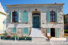 one of the lovely stone houses along the harbor | Foca, Izmir, Turkey