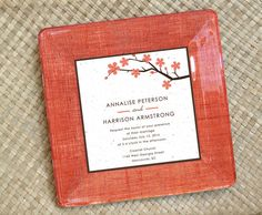 #Unique Wedding Gift / Wedding Gift OOAK / Customized Wedding Gift / Personalized Decoupage Plate / Fall Colors