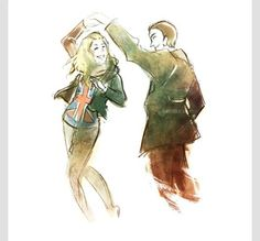 Doctor Who 9th Doctor and Rose Tyler