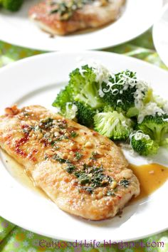 Eat Good 4 Life: Parsley and garlic chicken cutlets with broccoli