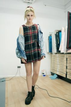Tartan grunge dress x