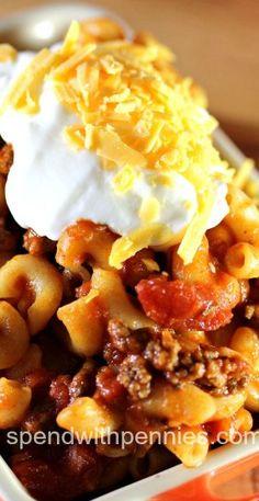 Grandma's Goulash Recipe (gf pasta)