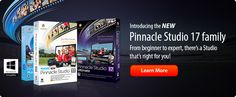 Pinnacle Studio 17 - Video Editing Software - yourmemoriesremembered.com