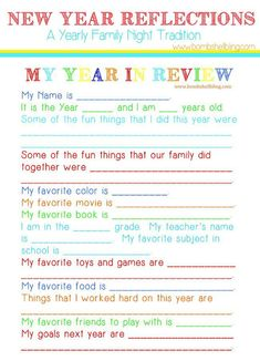 Kids New Year Reflections Party Idea