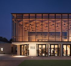 Gallery of Peter Hall Performing Arts Centre / Haworth Tompkins - can find Performing arts and more on our website.Gallery of Peter Hall Performing Arts . Cultural Architecture, Timber Architecture, School Architecture, Architecture Design, Design Hall, Flur Design, Facade Design, Timber Ceiling, Timber Roof