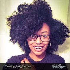 In love with her natural hair