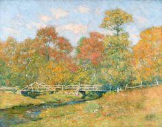 """Matt Rowland's Road, Old Lyme, CT"", Clark Greenwood Voorhees (1871-1933), c. 1919, Oil on canvas, Hawthorne Fine Art."
