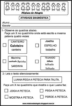Atividades diagnóticas Italian Words, Education, Power Rangers, Literacy Activities, Classroom, Pictures, Powe Rangers, Onderwijs, Learning