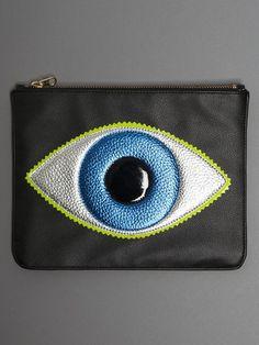 Black Evil Eye Clutc