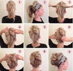 Hair Totorial for Crazy Bun