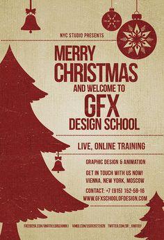 GFX SCHOOL AND STUDIO OF DESIGN ONLINE MERRY CHRISTMAS on Behance