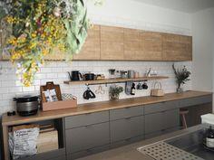 Kitchen Tile, Kitchen Layout, Kitchen Living, Kitchen Design, Kitchen Cabinets, Kitchen Furniture, Kitchen Interior, Cafe Style, Space Interiors