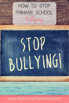 How To Deal With Primary School Bullying | No one likes to think of their child being bullied at school but unfortunately it often happens. Here are some tips and advice to deal with school bullies... #school #parenting #bullying