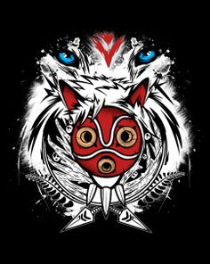 Forest Spirit Protector T-Shirt $10 Princess Mononoke tee at ShirtPunch today only!