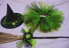 Hey, I found this really awesome Etsy listing at https://www.etsy.com/listing/58415941/tutu-witch-costume-lime-and-black-infant