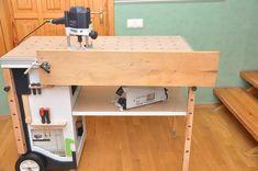 Мобильный верстак MFTC Festool Kapex, Workbench Designs, Woodworking Shop, Tool Box, Workshop, Work Stations, Desk, How To Plan, Wood Working
