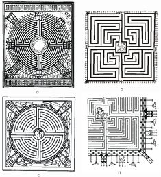 The Geometry of History; 032147658  Various Roman labyrinth designs