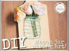 Diy: Mason jar string art - YouTube