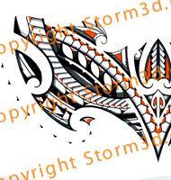 polynesian-orange-chestplate-tribal-maori-tattoo-design