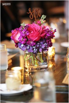 Lincoln Restaurant DC wedding. Reception centerpiece by Occasional Florist. Photo by Love Life Images.