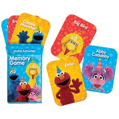 Check out Sesame Street Memory Match Game Favors | Sesame Street Birthday tableware & décor for your party from Birthday in a Box from Birthday In A Box