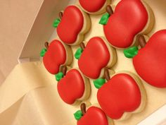 Snow White Apple Decorated Cookie Favors Baby shower or just for fun. $25.00, via Etsy.