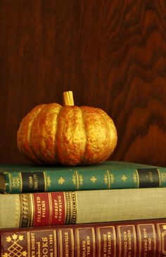 pumpkins with books