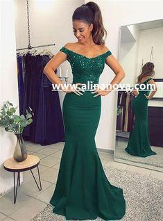 V Neck Long Navy Blue Mermaid Evening Dresses Lace Off The Shoulder f1a8f560022e