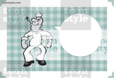 Greeting card with cartoon sailor – personalize your card with a custom text