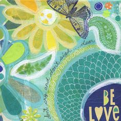 be love - 8x10 GICLEE PRINT, mixed media, typographic, Susan Black via Etsy