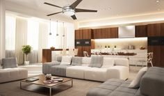 Quiet Ceiling Fans, Energy Star, Indoor, Couch, Living Rooms, Inspiration, Contemporary, Furniture, Interior