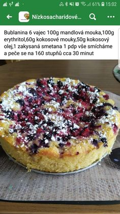 Sponge Cake, Low Carb Recipes, Cheesecake, Paleo, Food And Drink, Gluten Free, Cooking, Breakfast, Desserts
