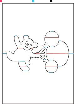 3d pop up pattern wioletta matusiak picasa for Teddy bear pop up card template free