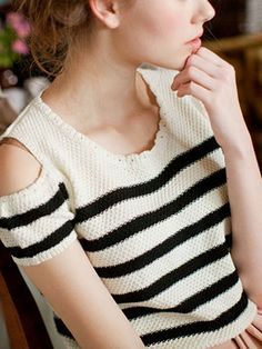 Zanzea Female OffShoulder Stripe Sweaters by pooqDESIGN on Etsy, $25.00
