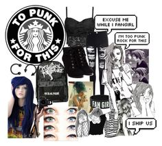 """""""Hello punk rockers"""" by x-punk-and-band-stuff-x ❤ liked on Polyvore"""