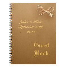 Brown Paper Bag Wedding Guest  Notebook