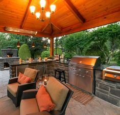 53 Fantastic Outdoor Space Makeover on A Budget Outdoor Rooms, Outdoor Living, Outdoor Kitchens, Outdoor Decor, Outdoor Ideas, Double Sided Fireplace, Outside Living, Backyard Patio, Backyard Cabana