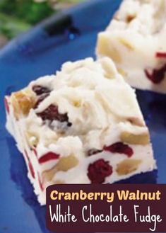 This delicious Cranberry Walnut White Chocolate Fudge is a very unusual and simple recipe that uses prepared frosting that you purchase. Fudge Recipes, Candy Recipes, Holiday Recipes, Dessert Recipes, Dessert Bread, Bread Recipes, Cranberry Recipes, Holiday Appetizers, Holiday Treats