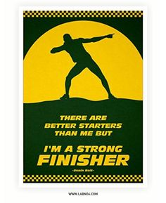 Usain Bolt Quote Poster