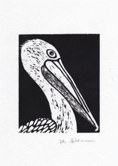 Pelican Philippe Achermann Gravure sur bois Street Art, Art Graphique, Patterns, Artwork, Cards, Diy, Contemporary Photography, Old Photography, Etchings
