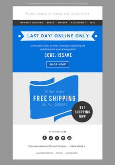 4 Sales E-mail Newsletter Templates | Newsletter templates and Fonts
