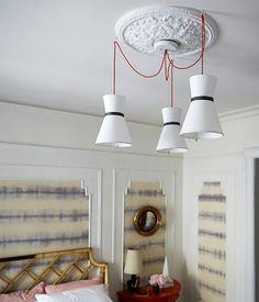 como hacer lamparas colgantes con pantallas