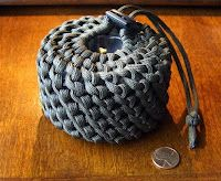 Stormdrane's Blog: Half Hitched Paracord Can Koozie...but can be used for pouches. This made me think of a candle