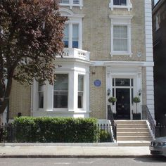 The London home of author of Wind in the Willows Kenneth Grahame, 16 Phillimore  Place, W8
