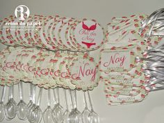 Chá lingerie e placas decotivas, placas divertidas topper e tag para lembrancinha