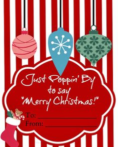 The Pinterest Housewife: Just POPpin' by to say Merry Christmas FREE PRINTABLE - a gift for your neighbor!