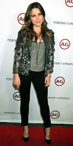 Sophia Bush - love the jacket with this whole outfit!
