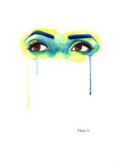 Parrot Eyes Watercolor Drip Painting Print Drip Painting, Painting Prints, Eyes Artwork, A Level Art, Identity Art, Watercolor Artwork, Cool Drawings, Eye Drawings, Art Techniques