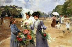 Louis Marie de Schryver (French artist, 1862-1942)  Flower Girl